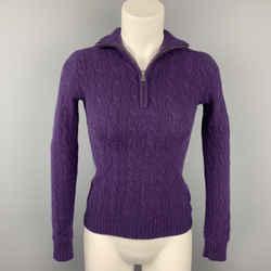 RALPH LAUREN Black Label Size XS Purple Cashmere Sweater