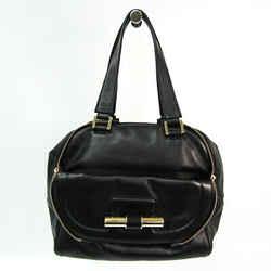 Jimmy Choo Justine Women's Leather Handbag Black BF520407