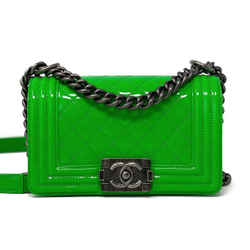 Chanel Patent Small Le Boy Bag Green Rhw