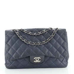 Classic Double Flap Bag Quilted Perforated Lambskin Jumbo
