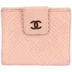 Chanel Pink Leather Mini Quilted Compact Wallet 16ccs1231