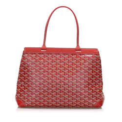 Red Goyard Goyardine Bellechasse PM Bag