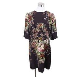 Dolce & Gabbana Plum Floral Viscose Dress Sz 6