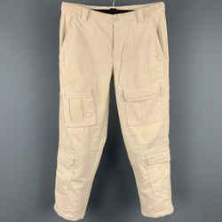 BRUNELLO CUCINELLI Size 30 Cream Corduroy Cargo Pockets Casual Pants