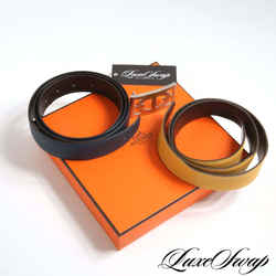 Hermes Belt System Kit 2 Straps 1 Buckle