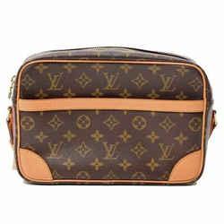Auth Louis Vuitton Monogram Trocadero Shoulder Bag Leather