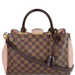 Louis Vuitton Brittany Damier Ebene Shoulder Bag Brown