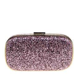 Anya Hindmarch Pink Glitter Marano Clutch