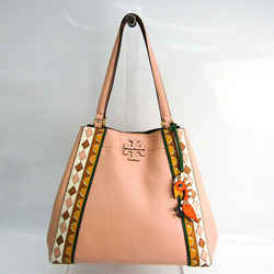 Tory Burch Macglow Patchwork Carryall Women's Leather Tote Bag Light Pi BF521747