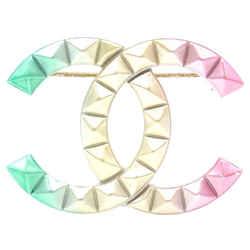 Chanel Cc Rainbow Stud Hardware Brooch