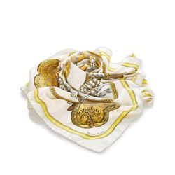 Yellow Hermes Grand Apparat Silk Scarf