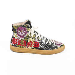 Gucci Sneakers Blind For Love Floral Jacquard High Top Men's SZ 9
