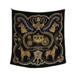 Hermes Horse And Carriage Silk Scarf