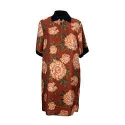 Salvatore Ferragamo Floral Silk and Cotton T-Shirt Dress Size 40 IT