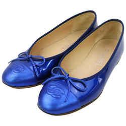 Chanel Metallic Blue Coco Ballerina Flats 863323