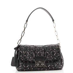 Miss Dior Flap Bag Printed Cannage Quilted Lambskin Medium