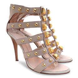 New $861 Giuseppe Zanotti Large Studded Gladiator Heel Sandals -nude - Size 40