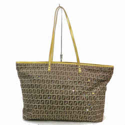 Fendi Monogram FF Zucca Zippered Roll Tote 871563