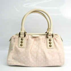 Louis Vuitton Monogram Mini Lin Trapeze PM M40062 Women's Handbag Rose BF519766