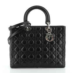 Vintage Lady Dior Bag Cannage Quilt Lambskin Large