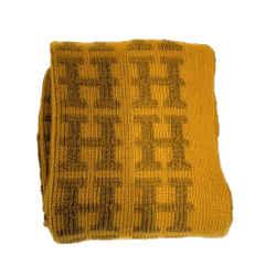 Hermes Cashmere Logo H Long Knit Monogram Scarf