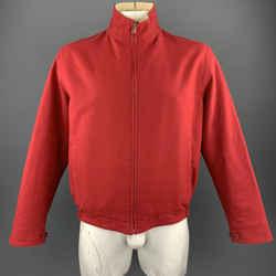 Loro Piana Size L Red & Beige Cotton Reversible Jacket