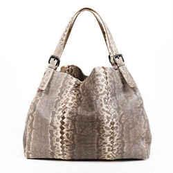 Bottega Veneta Bag Karung Gray Lizard Skin Tote