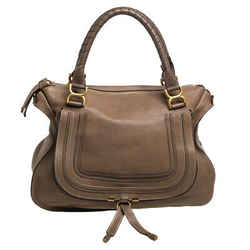 Chloe Beige Leather Large Marcie Satchel