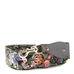 Camubutterfly Guitar Bag Strap Embroidered Canvas with Leather