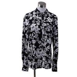Moschino Black White Floral Print Top sz 4