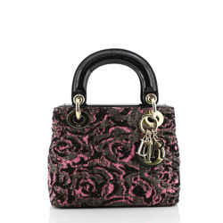 Lady Dior Bag Cannage Quilt Tweed with Patent Mini
