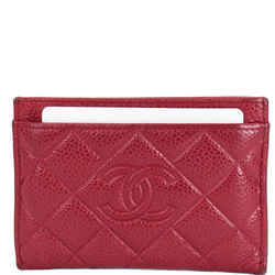 Chanel Cc Card Holder Caviar Leather Case Hot Pink
