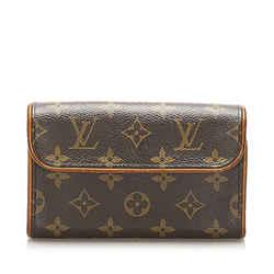 Vintage Authentic Louis Vuitton Brown Monogram Florentine Pochette France