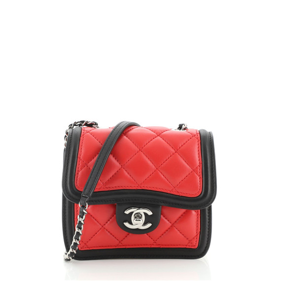 Graphic Flap Bag Quilted Calfskin Mini