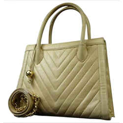 Chanel  Quilted Chevron 2Way Tote 212917