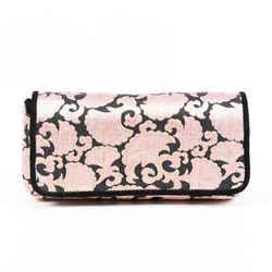 Dries Van Noten Bag Pink Black Brocade Clutch