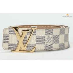 Louis Vuitton 40mm Initials Damier Azure Belt Size 90/36