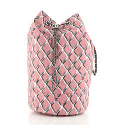 CC Drawstring Sling Backpack Printed Canvas Large