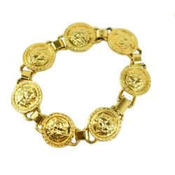 "VERSACE: Gold, Metal ""Medusa"" Medallions Bracelet (mt)"