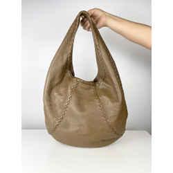 Bottega Veneta Brown Leather Large Hobo (W/ Dust Bag)