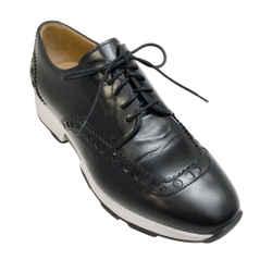 Hermes Black Brogue Loafer Sneakers