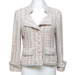 CHANEL Tweed Jacket Blazer Coat Lesage Buttons Lapel Sz 38 2013 13C RUNWAY