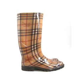 Burberry Rubber Haymarket Allover Tartan Rain Boots