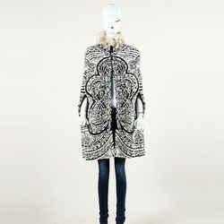 Emilio Pucci Jacquard Badger Fur Cape SZ S