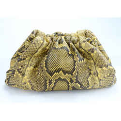 Bottega Veneta The Pouch Clutch Bag in Python