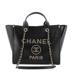 Deauville Tote Studded Caviar Small