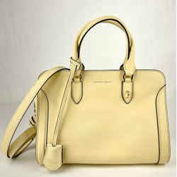 $1345 Alexander Mcqueen Light Yellow Leather Skull Padlock Handbag 419780 7200 M