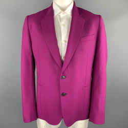 Paul Smith Size 46 Raspberry Wool Notch Lapel Sport Coat