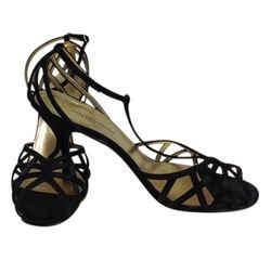 Dolce&Gabbana Black Silk Strappy T Strap Pumps Size: EU 41 (Approx. US 11) Regular (M, B) Item #: 22093671