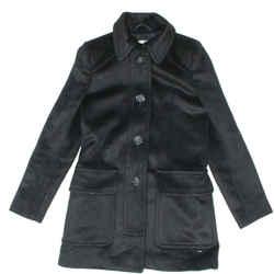 Miu Miu - Peacoat Coat With Pockets - Black - Us 00 - 36 Jacket